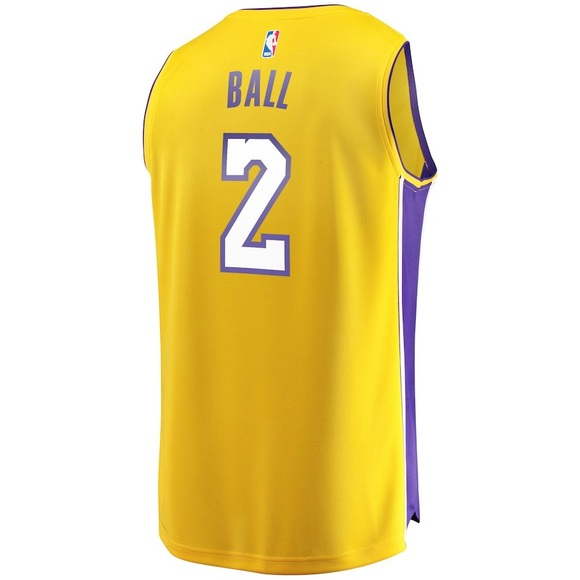0252a8a92933 Lonzo Ball  2 Los Angeles Lakers Fanatics Jersey